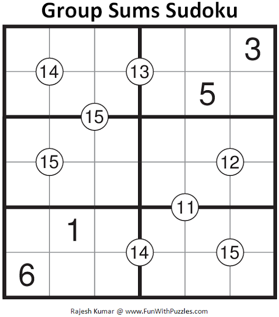 Group Sums Sudoku (Mini Sudoku Series #62)