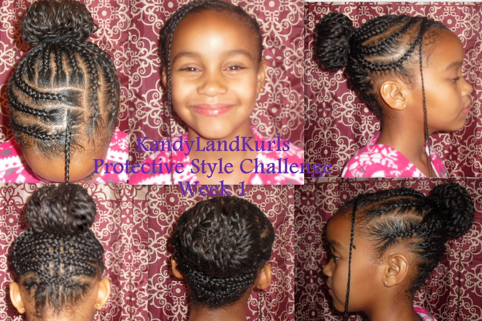 KandyLand: Twisted Bun with Criss-Cross Braids