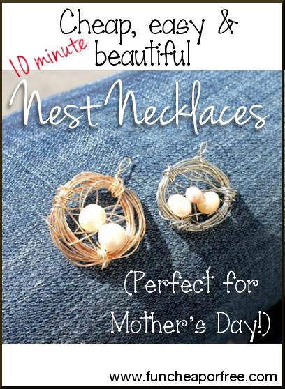 DIY nest necklace tutorial - easy to make!