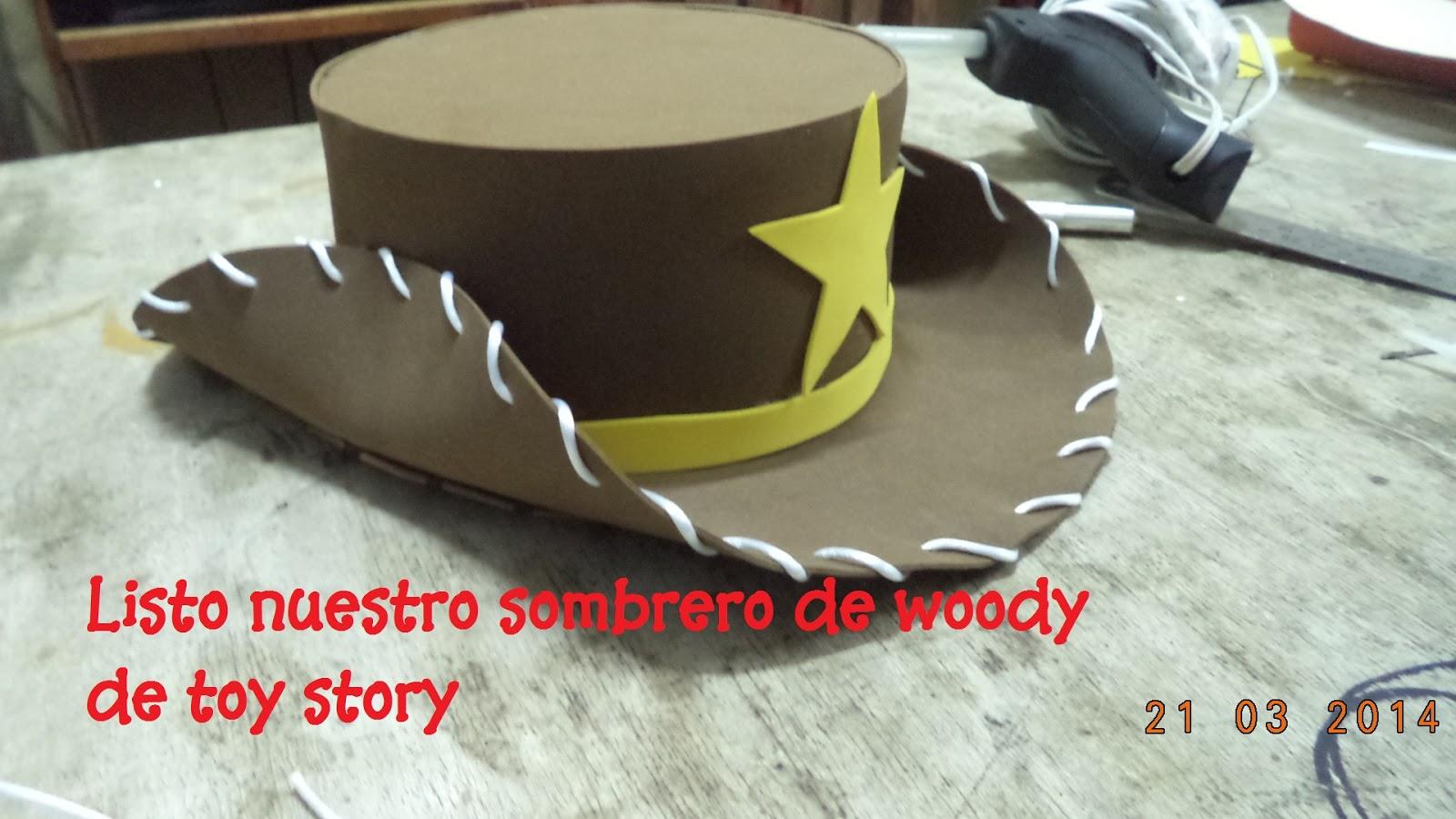 Creaciones Samadith Peru  SOMBRERO WOODY TOY STORY  44887796385