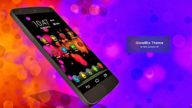 Next Launcher Theme 1.3 APK GlowMix