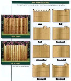 Схемы деревянного забора. Фото 5
