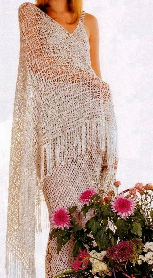 Crochet Patterns Shawl : Crochet Shawls: Crochet Shawl Pattern - Diamond Stitch