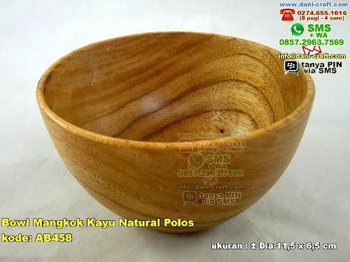 bowl mangkok kayu natural polos