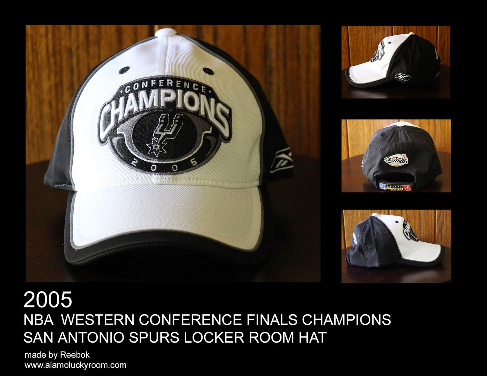 feff5ad7c9a 2005 San Antonio Spurs NBA Western Conference Finals Champions Locker Room  Hat