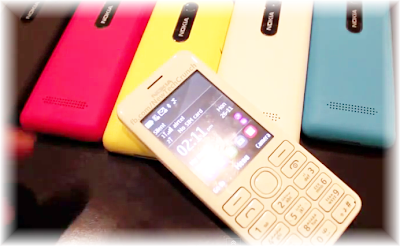 Nokia Asha 206 pink yellow white blue black colors