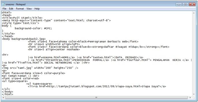 Yes, I am: Cara Mudah Membuat HTML Menggunakan Notepad