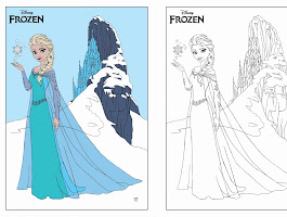 Disney Frozen Elsa Watercolor Portrait Illustration Drawing
