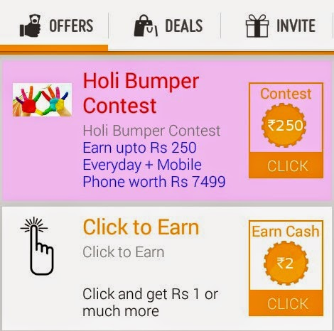 FreeB App Holi Bumper Contest - Get upto Rs 250 Daily + Win Google AndroidOne Phone