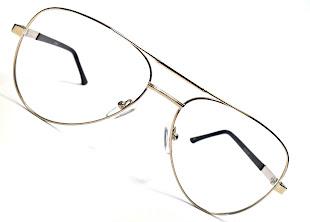 Modelo: MG 3301 Armação para Óculos de Grau Aviador Dourada