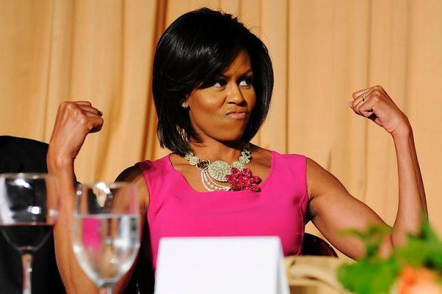 Michelle, Obama,