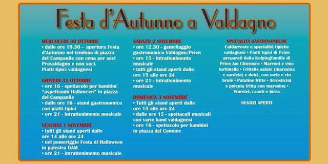 Programma Festa D'autunno Valdagno