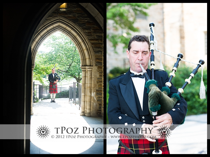 Bagpiper at Cathedral of the Incarnation Wedding Ceremony
