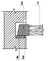 Как  балки опираются на стену