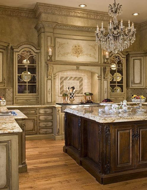 Interior Kitchen Cabinet Appliques life in the barbie dream house our kitchen inspiration i hate this chandelier but backsplash granite and cabinet combo are gorgeous