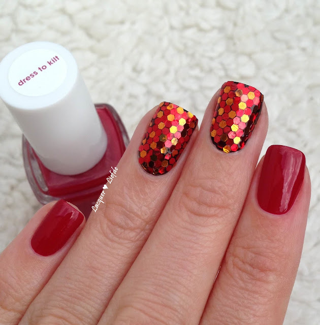 Essie Dress to Kilt Red Glitter Placement Born Pretty Store