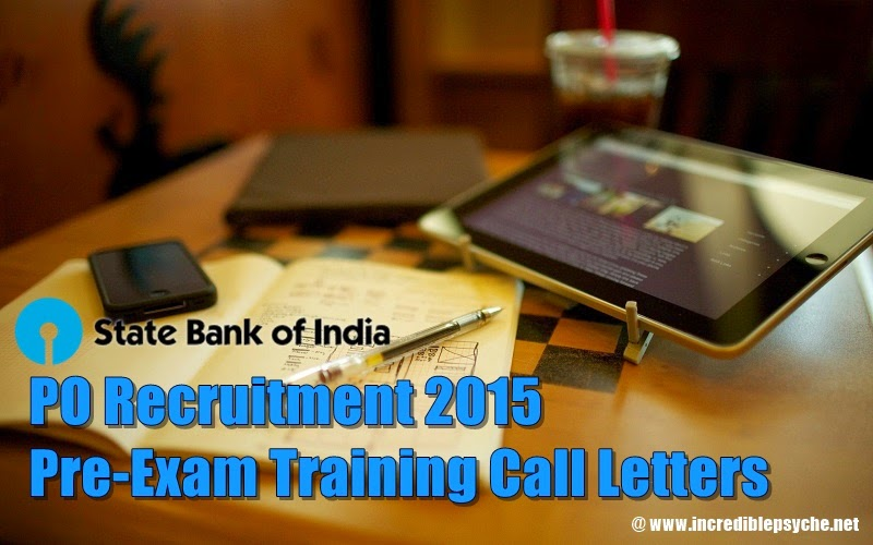 Download Official SBI PO Recruitment | Call letters for Pre-Exam Training Released for SC/ST/Minority Candidates