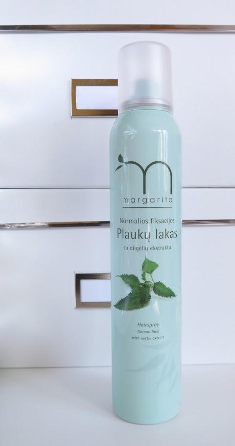 Margarita normalios fiksacijos plaukų lakas su dilgėlių ekstraktu