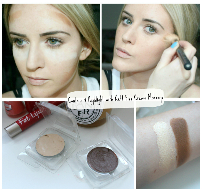 Contour and Highlight with Kett FIXX Cream Makeup | Recommended by GossMakeupArtist | Jennifer Rosellen