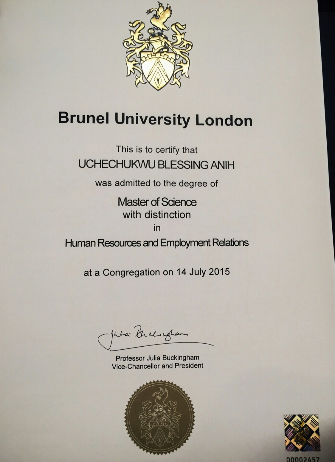 correct naija info uche anih another ian graduates uche anih another ian graduates first class from brunel university