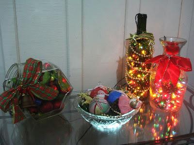 Luminárias feitas com pispa-pisca