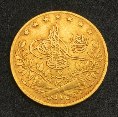 Turkey 50 Kurush Gold Coin