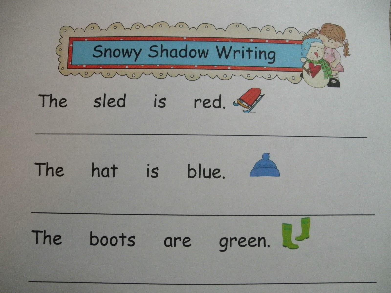 ... Core Connections: Winter Kindergarten & 1st Grade Literacy Activities