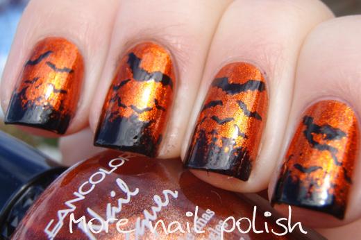 "bats - "" halloween nail"