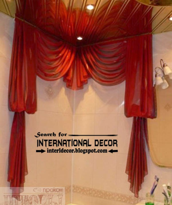ready made curtains, modern curtain designs, red curtains, bathroom curtains
