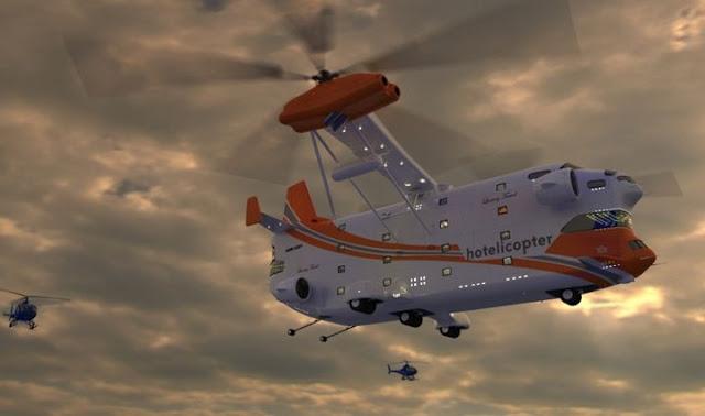 Hotelicopter – El primer hotel con forma de helicóptero del mundo!