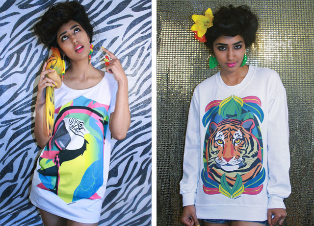 dazzle and jolt, jungle prints, exotic prints, tiger