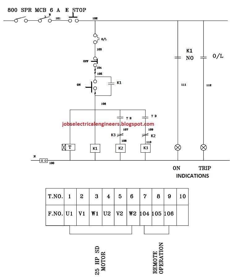 Fancy Star Delta Control Wiring Diagram Embellishment Electrical
