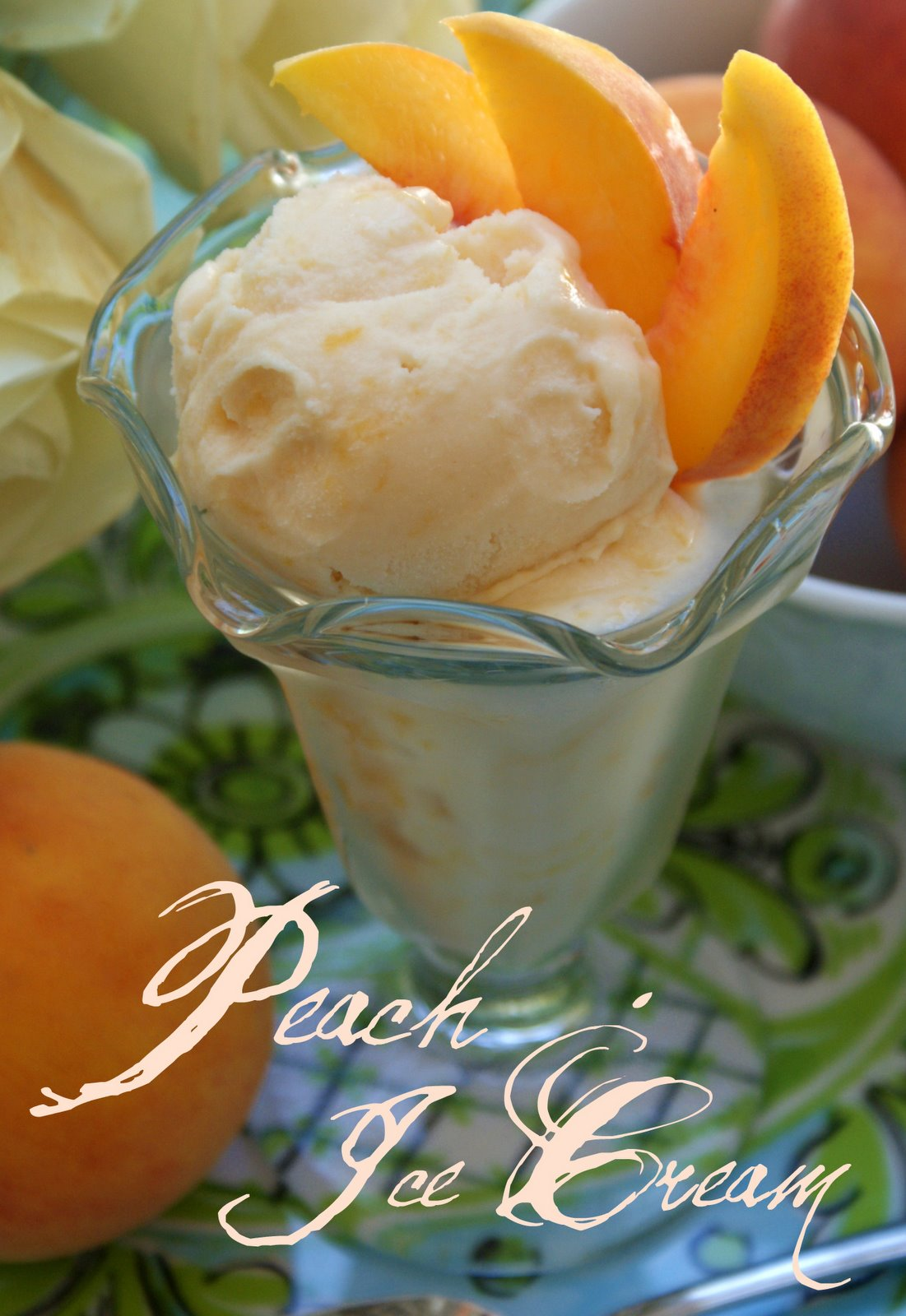 Little Loveliness: Peach Ice Cream
