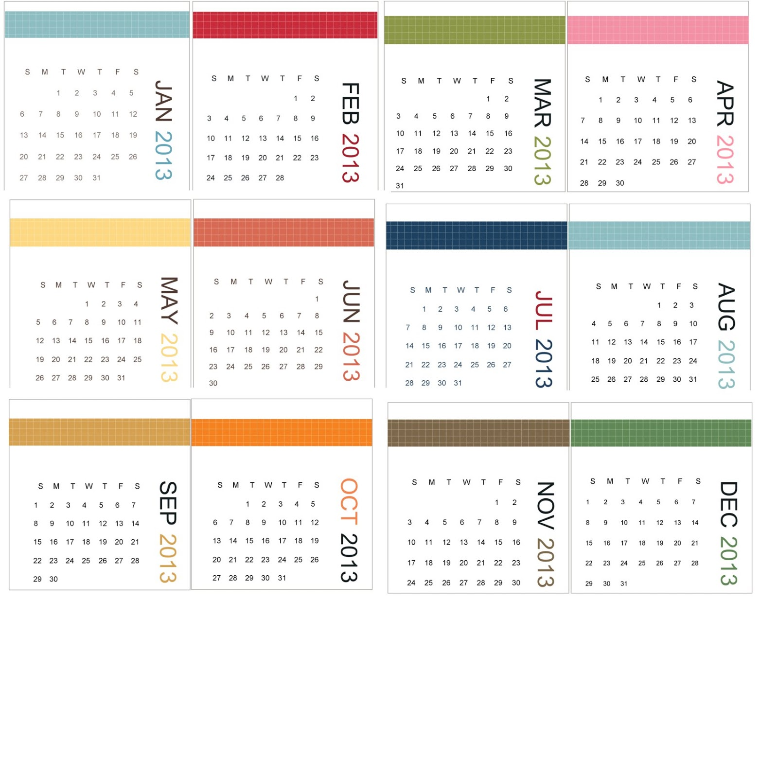 This calendar printable is available in my Etsy Shop. You can find the ...