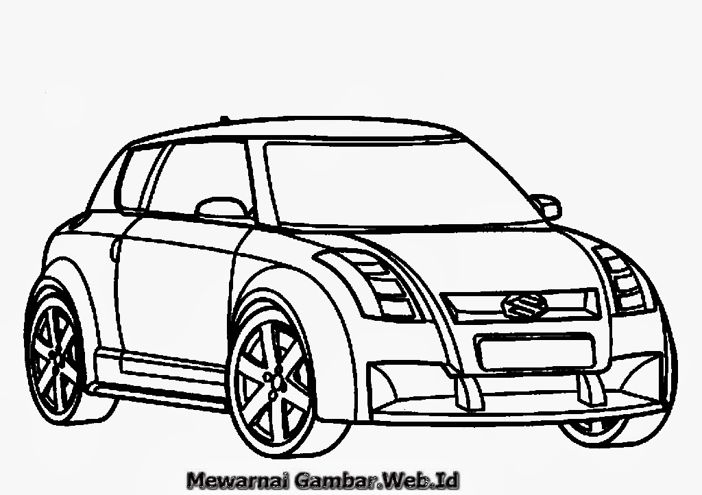 Gambar Mewarnai Mobil Suzuki | Mewarnai Gambar