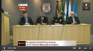 Polícia    Federal faz coletiva para explicar prisão de José Dirceu