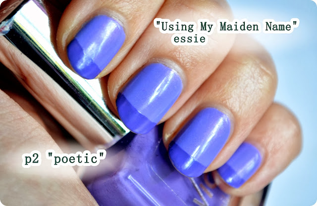 French Nails - essie USING MY MAIDEN NAME & p2 POETIC nail lacquer
