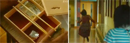An empty bento box / Nodame running down the hallway