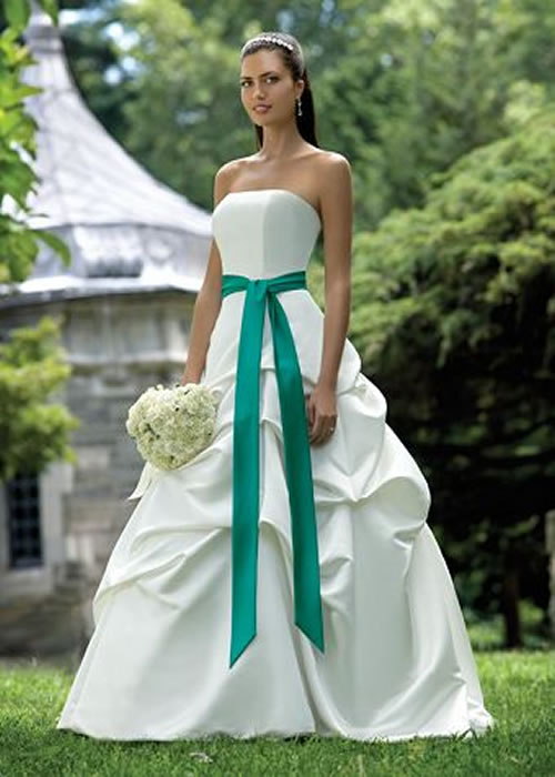 updatefashion beautiful green wedding dress design