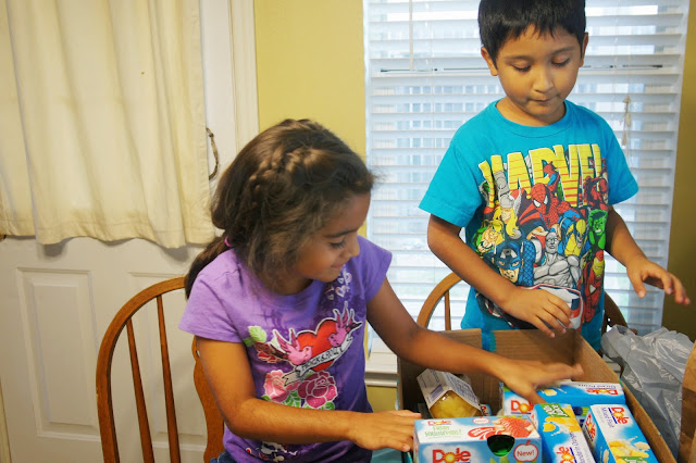 Champions For Kids Simple Service Project with Dole Fruit Snacks