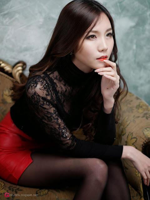 4 Lee Ji Min in 2 different outfits - very cute asian girl-girlcute4u.blogspot.com