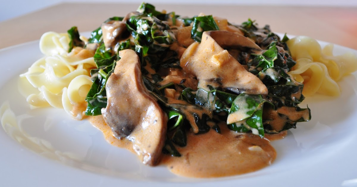 My Tiny Oven: Mushroom and Kale Stroganoff