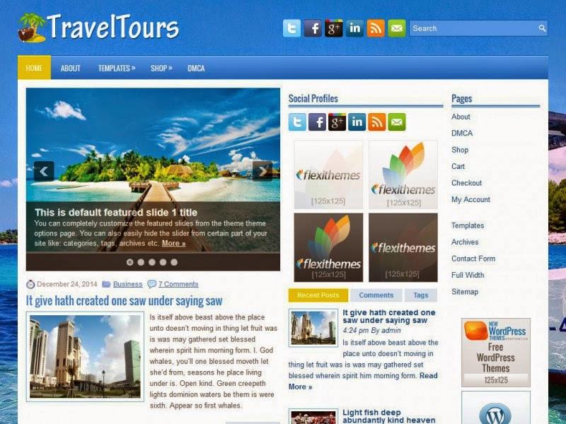 TravelTours - Free Wordpress Theme
