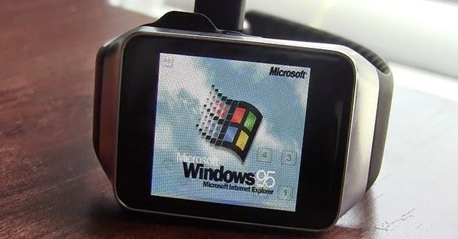 Jam Tangan Android Milik Samsung Dapat Menjalankan Windows 95 | Ini Buktinya!