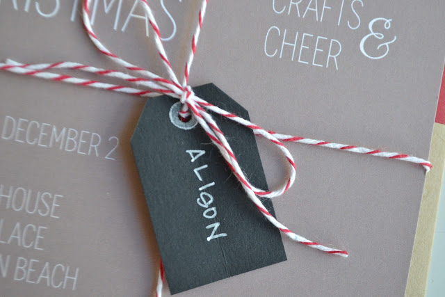 paper{whites} // holiday craft + cookie party invitation