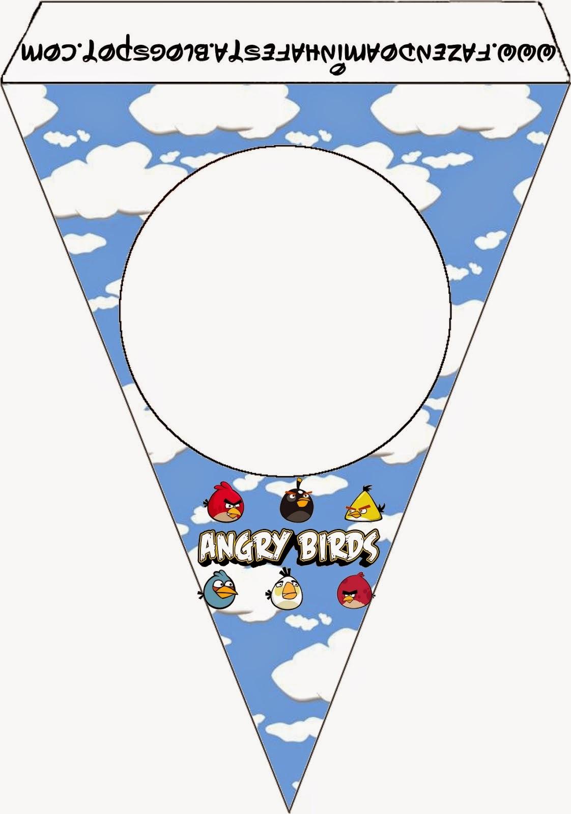 Para banderines de Angry birds con Nubes.