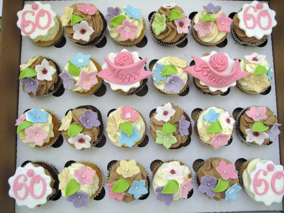 Cupcake Decorating Ideas For 60th Birthday : Candy Cupcake: Happy 60th Birthday Cupcakes