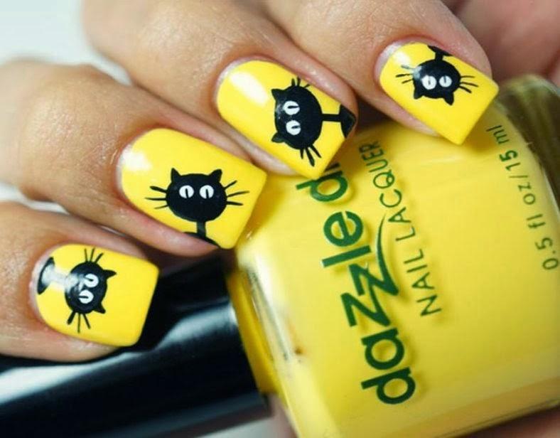 Yellow Nail Art Linkup - New Yellow Nail Art Idea Http://nails-side.blogspot.com/