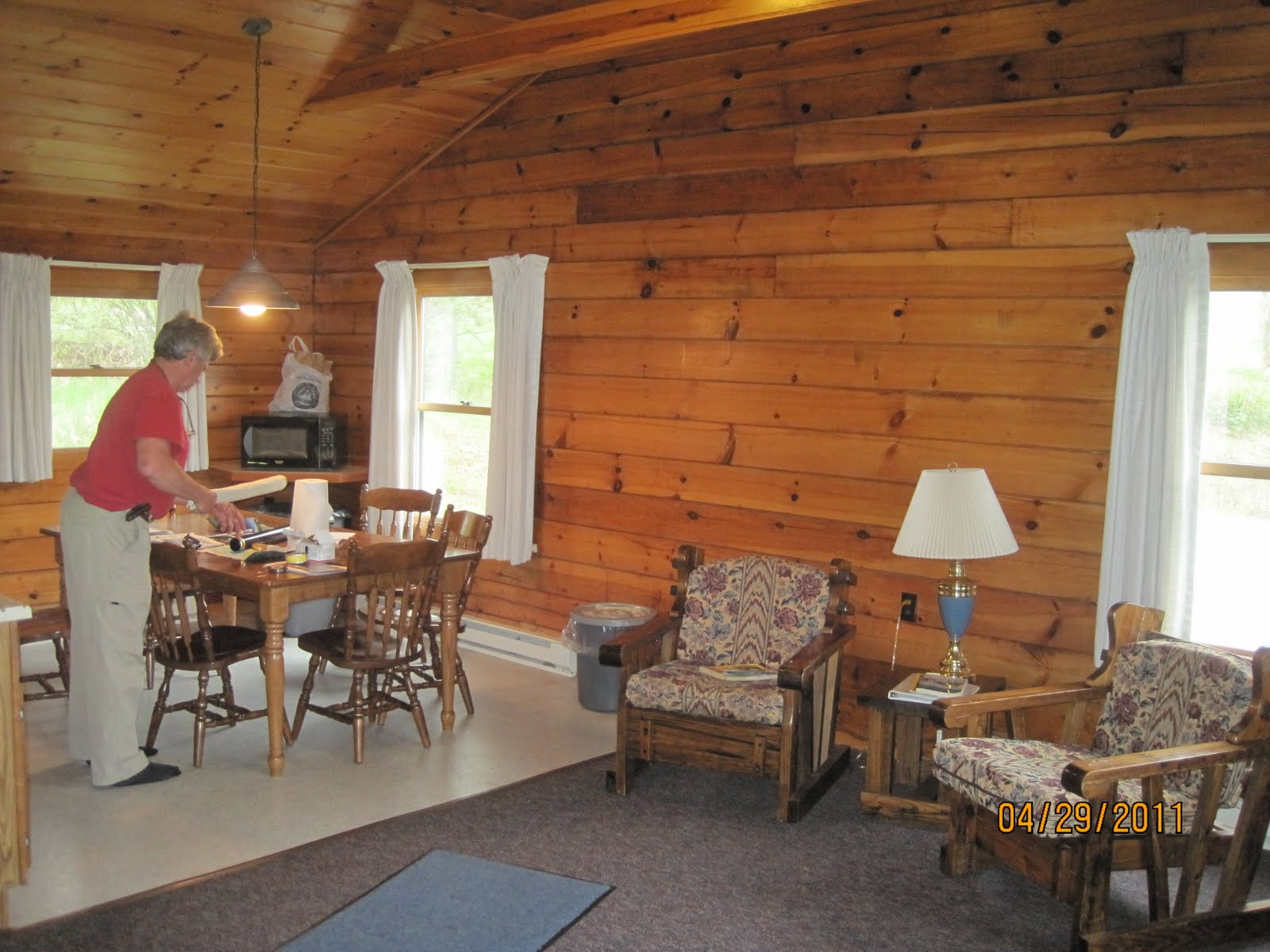 The Cabins Have A Bath With Shower, An Electric Range, Sink, Refrigerator  And Microwave. There Are Two Bedrooms With A Double Bed And Two Sets Of  Bunk Beds.