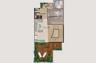 Czar Villas  :: Floor Plans,Type B:-Second FloorServant Room, Open Terrace, Varandah, Expandable Area Area - 120 Sq. Yds. (1919 Sq. Ft.)